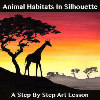 Animal Habitats In Silhouette