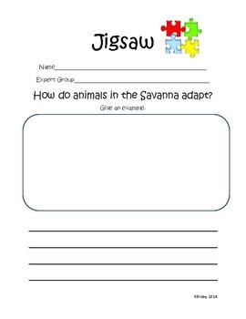 Animal Habitats Jigsaw Activity