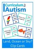 Animal Habitats Land Ocean Sky Autism Special Education Science