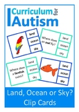 Animal Habitats Land Ocean Sky Autism Special Education Science