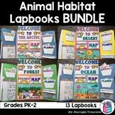 Animal Habitats Lapbook Bundle for Early Learners: Arctic, Desert, Forest, Ocean