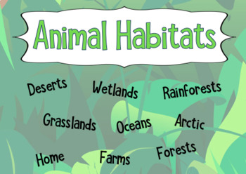 Animal Habitats (Lesson 3)