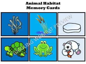 Animal Habitats Memory Cards
