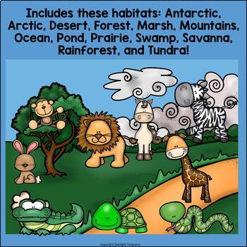 Animal Habitats Mini Book Bundle for Early Learners: Arctic, Desert, Forest