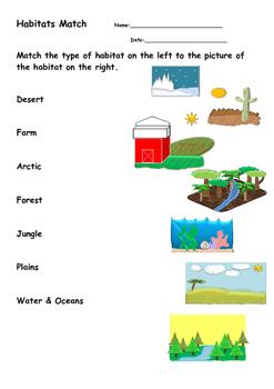 Animal Habitats Packet