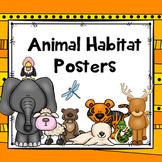 Animal Habitats Posters