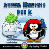 Animal Habitats Math and Literacy Activities