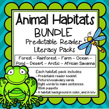 Animal Habitats Predictable Readers Flip Books BUNDLE