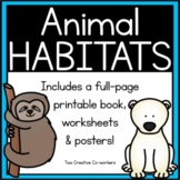 Animal Habitats {Printable book, sorting worksheets, & posters}