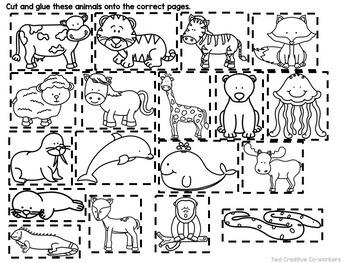 Animal Habitats {Printable book, sorting worksheets, & posters}