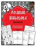 Animal Habitats Research FREEBIE