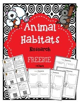 Animal Habitats Research FREEBIE