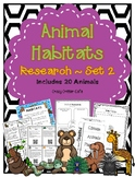 Animal Habitat Research Set 2