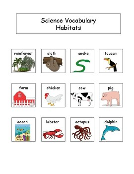 Animal Habitats: Science Unit for Kids with Autism