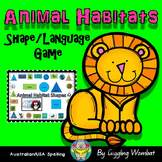 Animal Habitats Shape Game