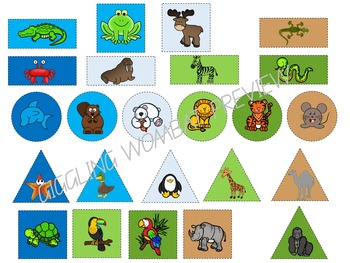 Animal Habitats Shape Game