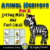 Animal Habitats Sorting Mats and Fact Cards