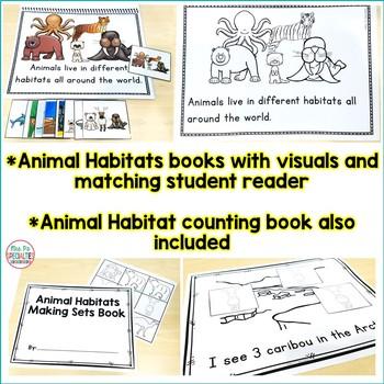 Animal Habitats Unit For Special Education (Leveled Science Instruction)