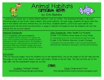 Animal Habitats Tab-Book