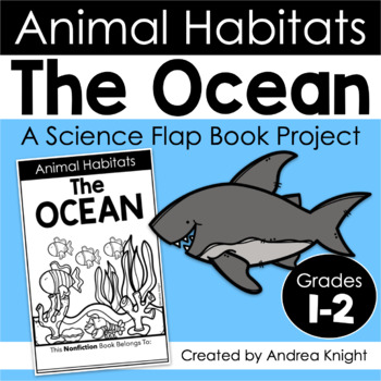 animal habitats the ocean a flap book project for grades 1 2. Black Bedroom Furniture Sets. Home Design Ideas