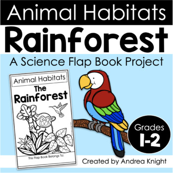 animal habitats the rainforest a flap book project for grades 1 3. Black Bedroom Furniture Sets. Home Design Ideas