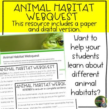 Animal Habitats Webquest