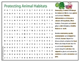 Animal Habitats Word Search