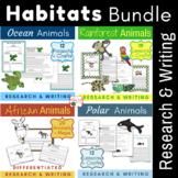 Animal Habitats Writing Bundle {Science Informative Research, Writing, Crafts}