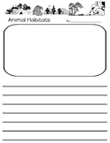 Animal Habitats Writing Paper