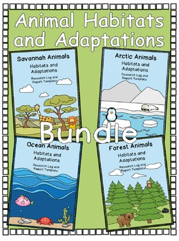 Animal Habitats and Adaptations Bundle