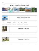 Animal Habitats and Parts - ESL/EL/EFL unit