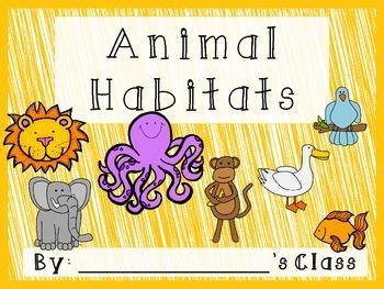 Animal Habitats classroom book