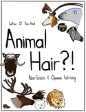 Animal Hair Writing Activity