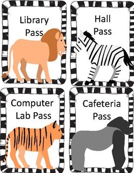 Animal Hall Passes