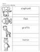 Animal Handwriting Practice