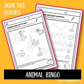 Animal Handwriting Workbook
