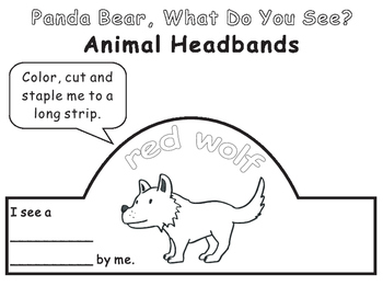Eric Carle Panda Bear What Do You See?-Animal Headbands