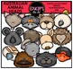 Animal Heads Clip Art Mega Bundle {Educlips Clipart}