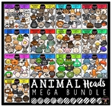 Animal Heads Clip Art Mega Bundle {Educlips Clipart}