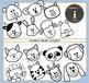Animal Heads Clipart / Animal Clipart