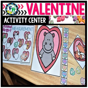 Valentine Activity Center {Animal Heart Measurement}