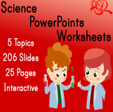 ⭐Animals Interactive Life Science Powerpoint ❘ Worksheets ❘ Leveled Reading