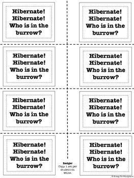 Animal Hibernation / Habitat Craft: Badger and Burrow