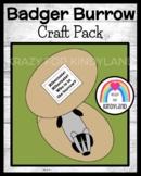 Badger and Burrow Craft (Animal Hibernation, Habitats)