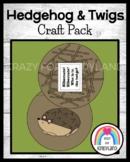 Hedgehog and Twigs Craft (Animal Hibernation, Habitats)