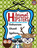 Animal Hipsters Classroom Theme Behavior Chart System **editable**