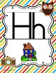 Animal Hipsters Classroom Theme Manuscript ABC Posters *D'