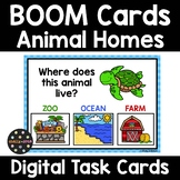 Animal Homes and Environments BOOM Cards | Distance Learning