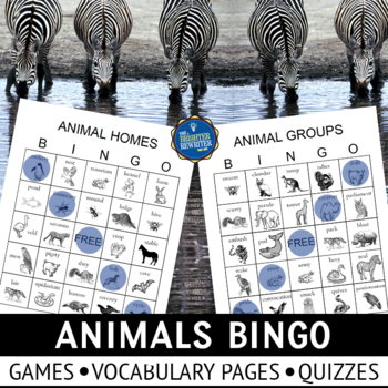 Animal Homes Bingo