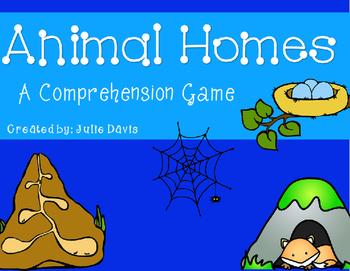 Animal Homes Comprehension Game Kindergarten